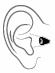 hoortoestel gehoorapparaat cic - compleet in kanaal